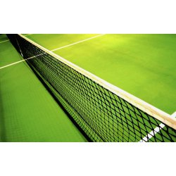 Tennis net with strengthened 5 upper rows (polyethylene, cord thick 2 mm)