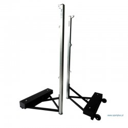 Professional, portable badminton stand on wheels, with regulated load - 90 kg