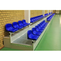 Stationary tribune with a riser and plastic seats - type TSH 200
